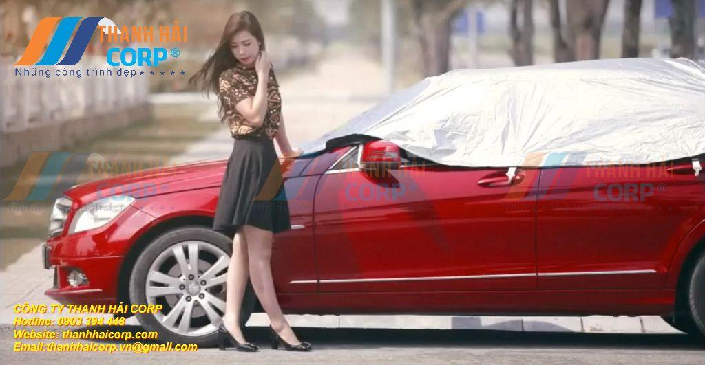 bạt dù phủ che xe hơi