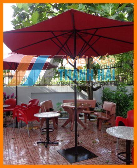 dù che nắng sân vườn quán cafe