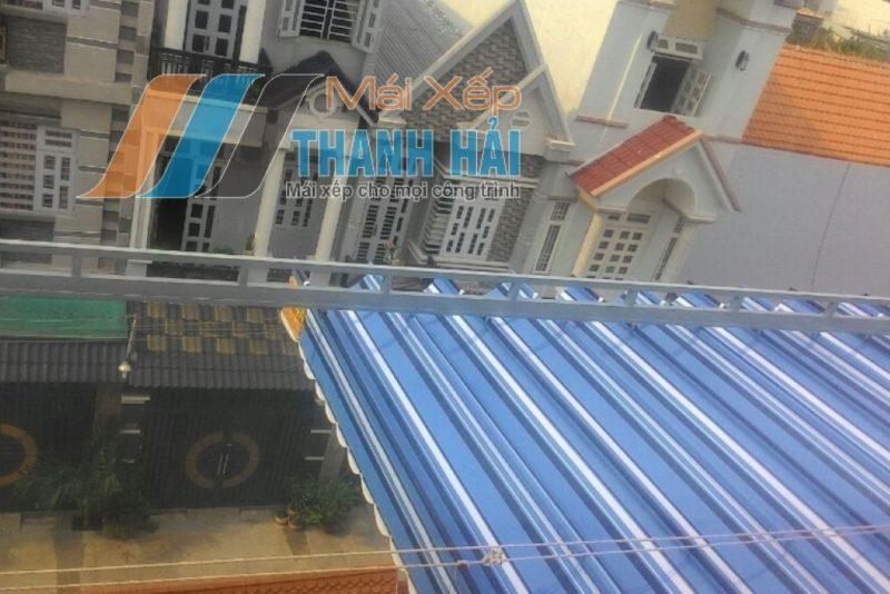 thiết kế mái xếp giếng trời