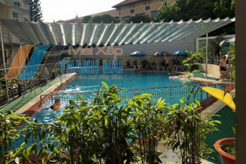 mái xếp bể bơi cao cấp