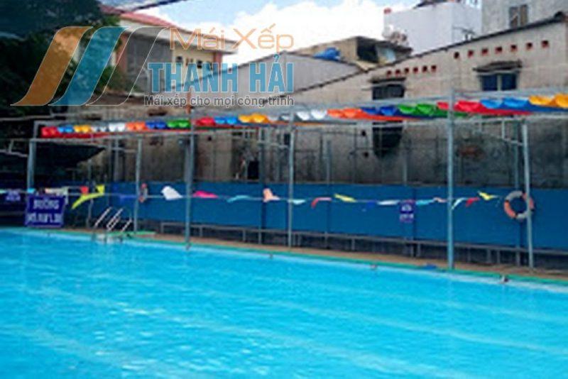 mái xếp cao cấp bể bơi
