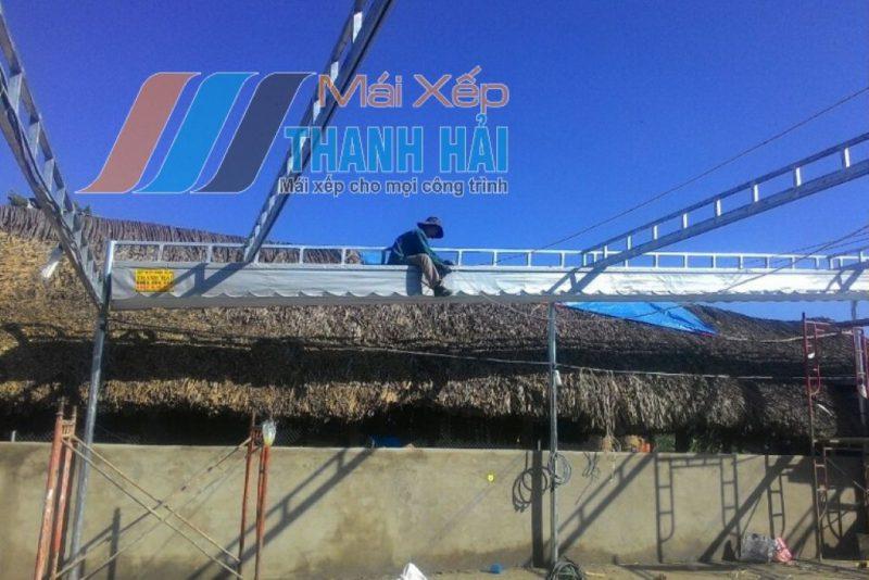 mái xếp nhà xưởng tại long an