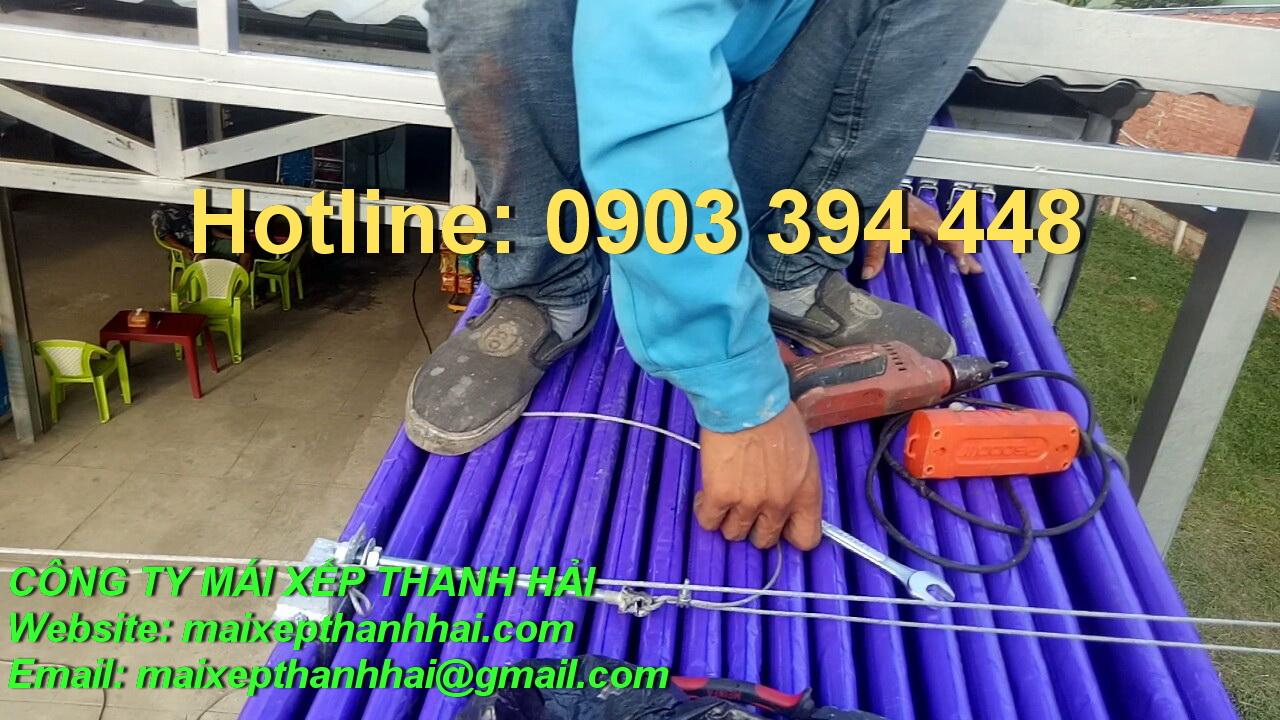 dây kéo bạt xếp di động