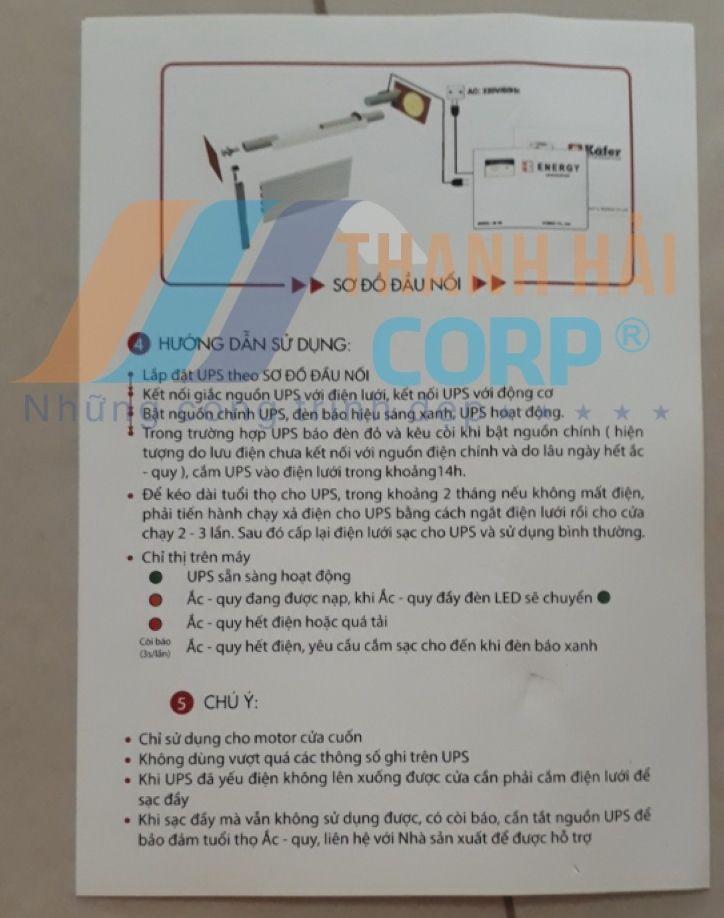 sơ đồ đấu nối bình lưu điện kafer