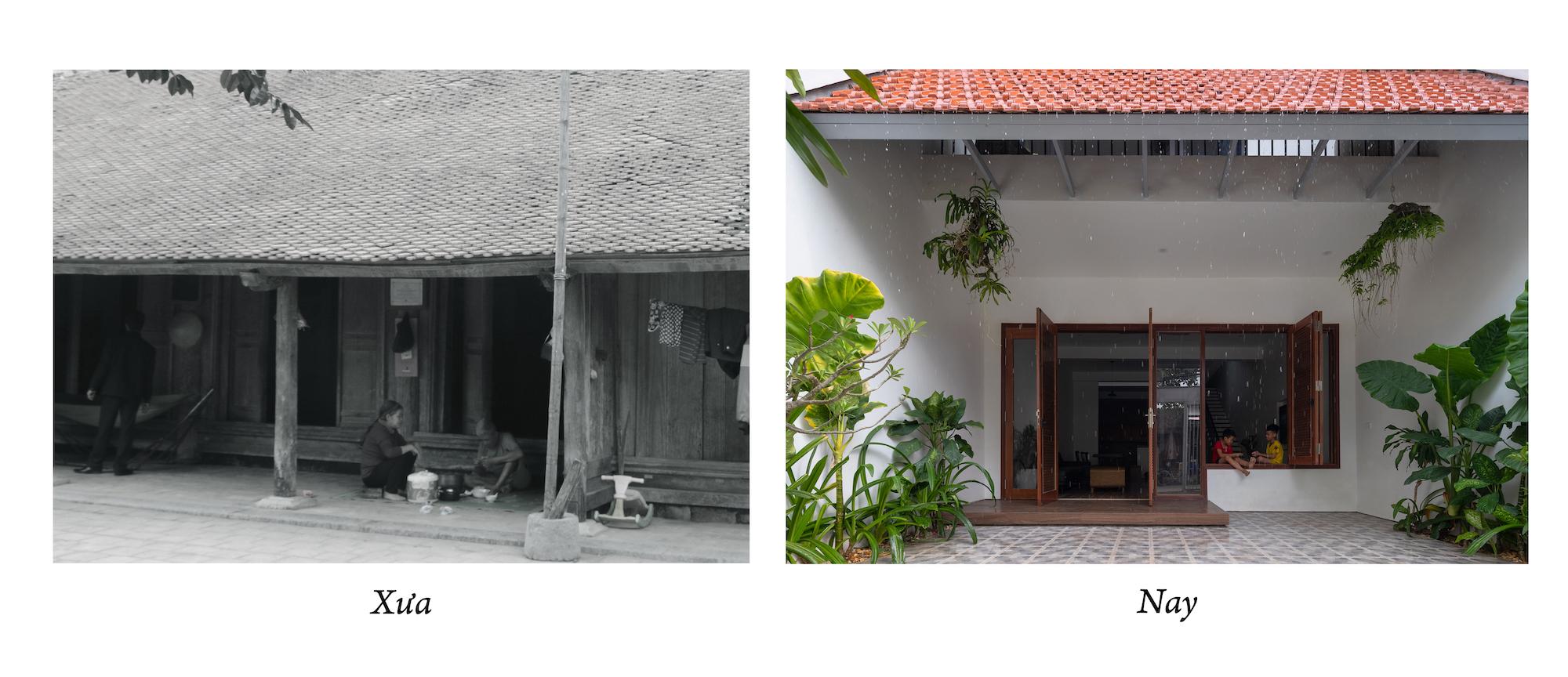 nhà mái ngói cũ ngày xưa